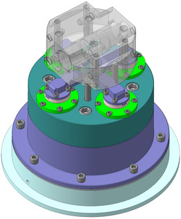 special pneumatic chuck for 5-axis milling machine