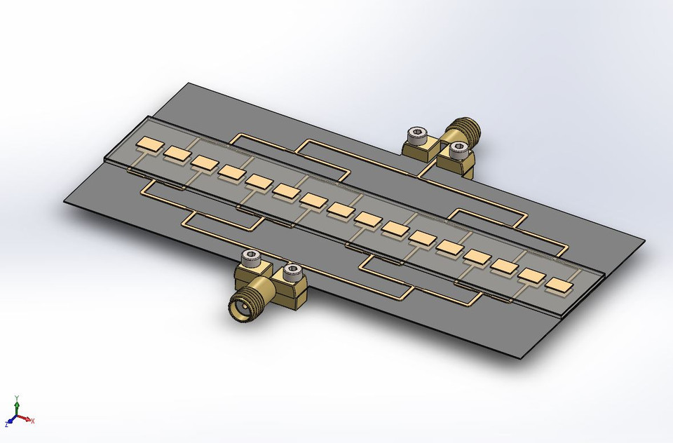 28 GHz (Ka Band) 16 Element 5G Linear Phased Array Assembly with 2 4