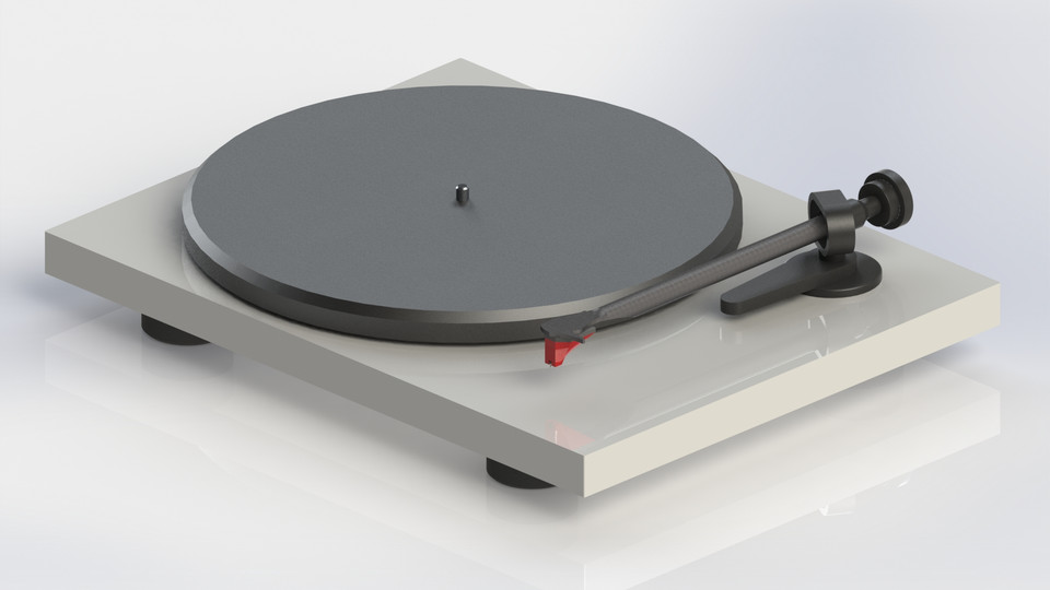 Turntable (Pro-Ject Debut Carbon DC) | 3D CAD Model Library