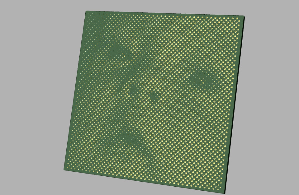 Halftone image on CNC | 3D CAD Model Library | GrabCAD