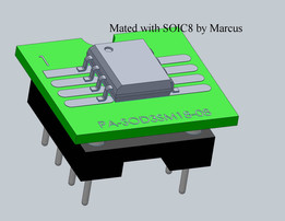 8 Pin SOIC to DIP adapter for electronic components, PA-SOD3SM18-08