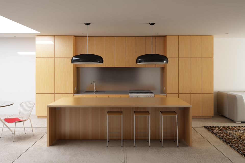 Modern Kitchen 3d Model modern kitchen - autodesk 3ds max - 3d cad model - grabcad