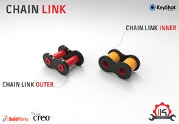 Motor Cycle Engine Internal Setup - Chain Link Roller Style (Inner & Outer Link)