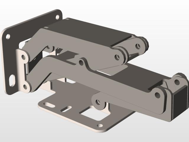 Rockler Hinge 175 Degree (SW17) | 3D CAD Model Library