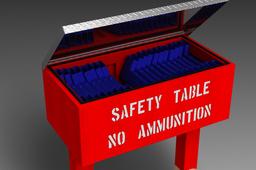 Gun Range Safety Table