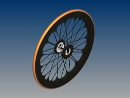 Futuristic bicycle wheel concept