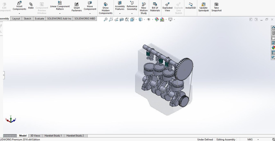 Engine Solidworks 3d Cad Model Library Grabcad