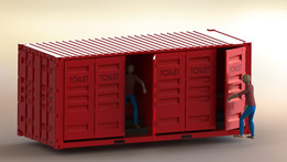20x08x08 SHIPPING CONTAINER TOILET