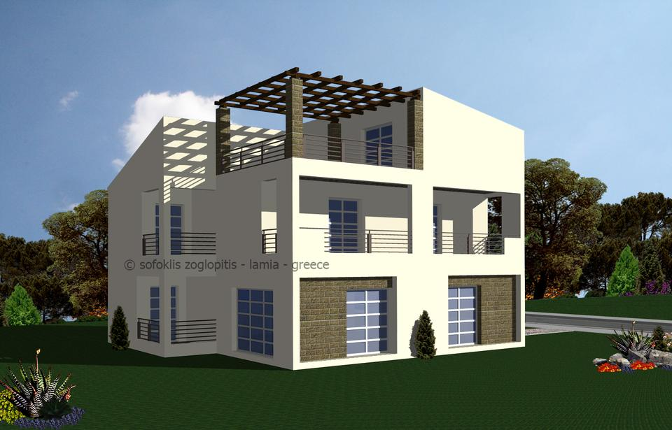 Autocad 3d house models images for Cad house