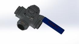 "3/4 "" 4 yollu vana (4 way valve) (solidworks)"