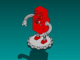 GrabCAD mascot contest entry