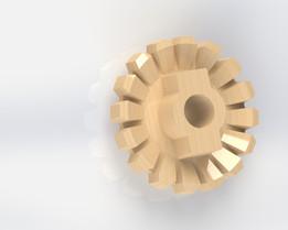 Gear on wood