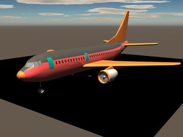 The ever new 737 Commercial Airliner 3D Model