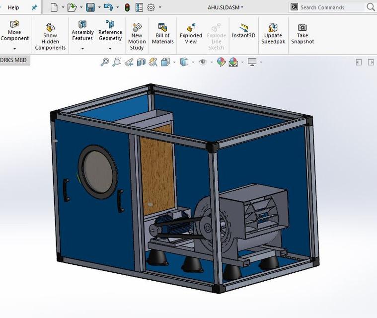 Air Handling Unit 3d Cad Model Library Grabcad