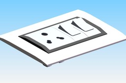 ELECTRICAL WALL PLATE WITH SWITCH AND SOCKET