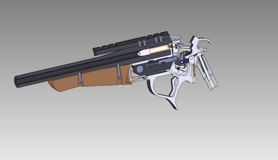 Thompson Center Encore Pistol   3D CAD Model Library   GrabCAD