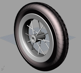 10x2 inch bicycle wheel