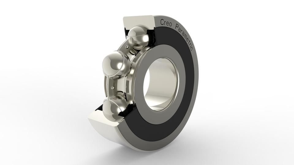 Ball bearing - Creo files   3D CAD Model Library   GrabCAD