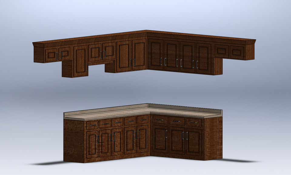 kitchen cabinets step iges solidworks 3d cad model kitchen cabinets and refrigerator design 3d 3d house