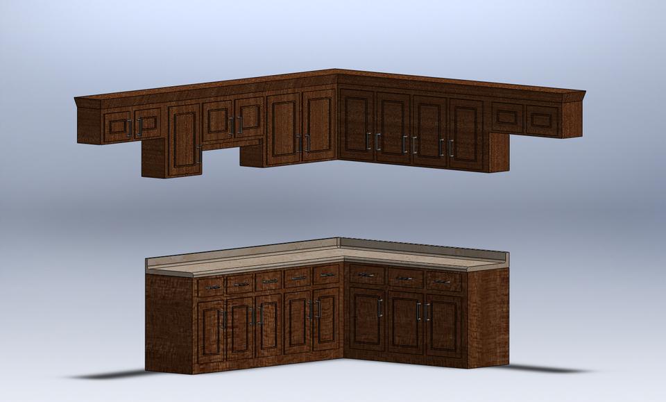 kitchen cabinets   step   igessolidworks   3d cad model   grabcad  rh   grabcad com