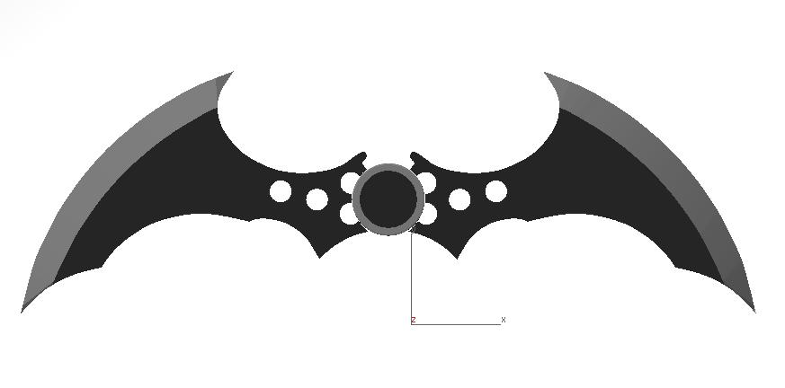 Batarang Arkham Asylum | 3D CAD Model Library | GrabCAD