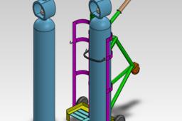 Trolley For Oxygen Tank Dia 10 inc