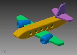 Toy passenger plane