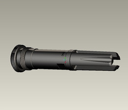 AAC style SCAR H flash hider