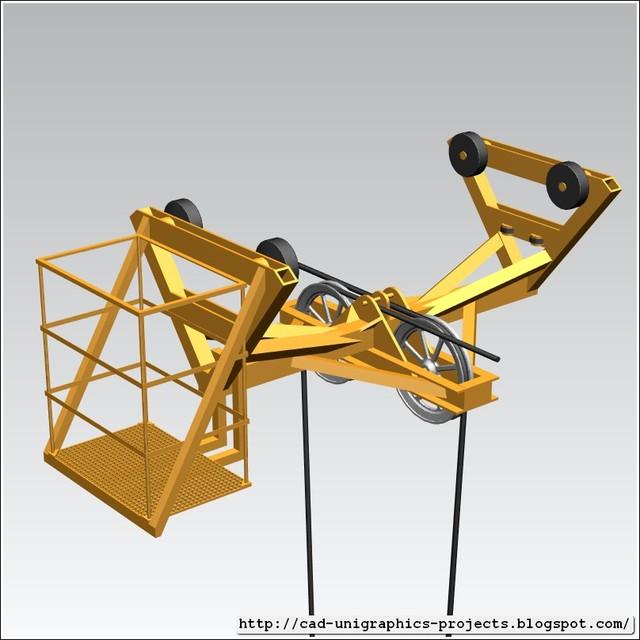 TOWER CRANE -Trolley- | 3D CAD Model Library | GrabCAD