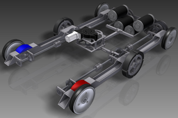 Experimental 6 Wheel Drive Train