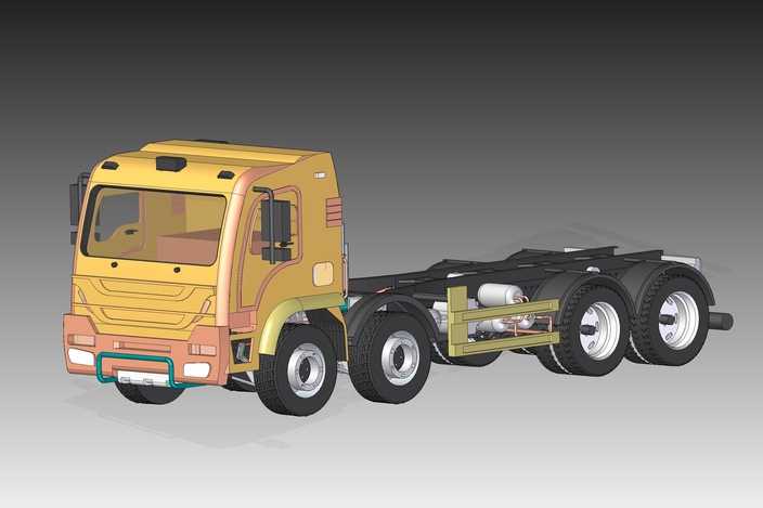 8x4 Construction and Mining Truck SolidEdge