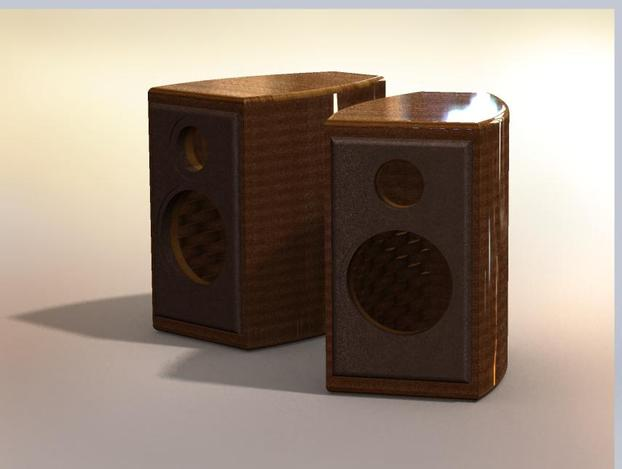 Bookshelf speaker box