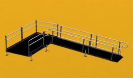 Wheelchair ramp and platform