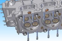 Rolls Royce Merlin63 Engine head