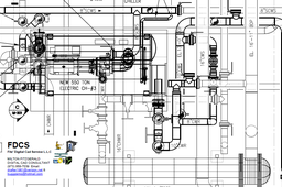 3D Piping Layout converted to 2D Plan and Sections