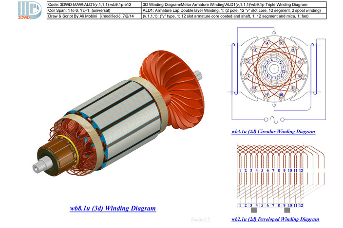 3d winding diagram ald1 v 1 1 1 3d cad model grabcad. Black Bedroom Furniture Sets. Home Design Ideas