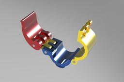 quick lock half  pipe holder