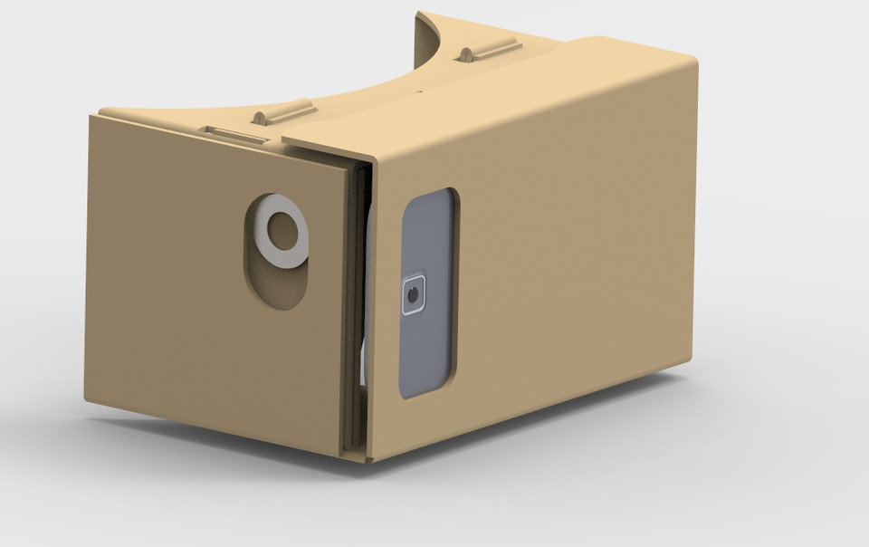 Google Cardboard Vr Headset Step Iges 3d Cad Model