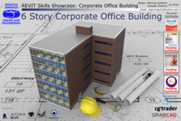 Revit Skills Showcase: 6 Story Corporate Office Building