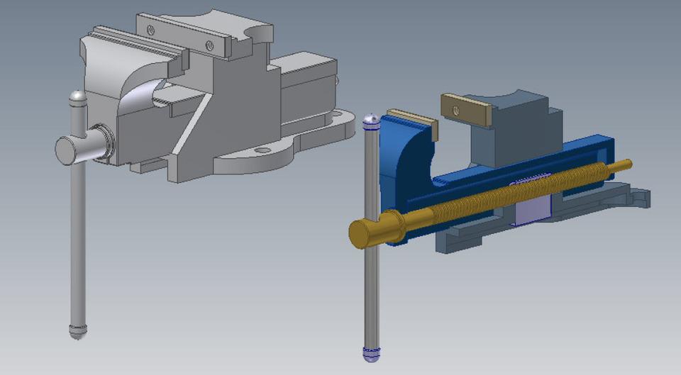 Bankschroef autocad 3d cad model grabcad for Sessel 3d dwg