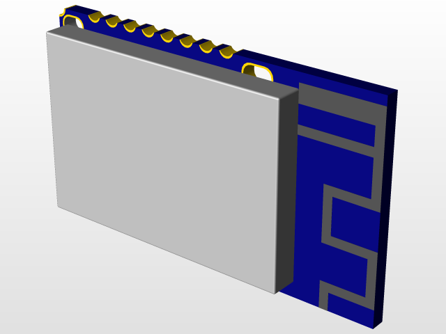 RN4020 Bluetooth Module | 3D CAD Model Library | GrabCAD