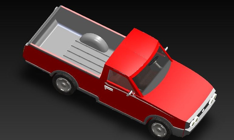 Toyota Hilux 1976 3d Cad Model Library Grabcad