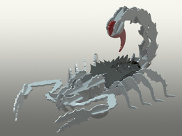 Nasty Scorpion sheet metal puzzle, scorpions, 3d model, puzzle, sheetmetal, metalcraftdesign