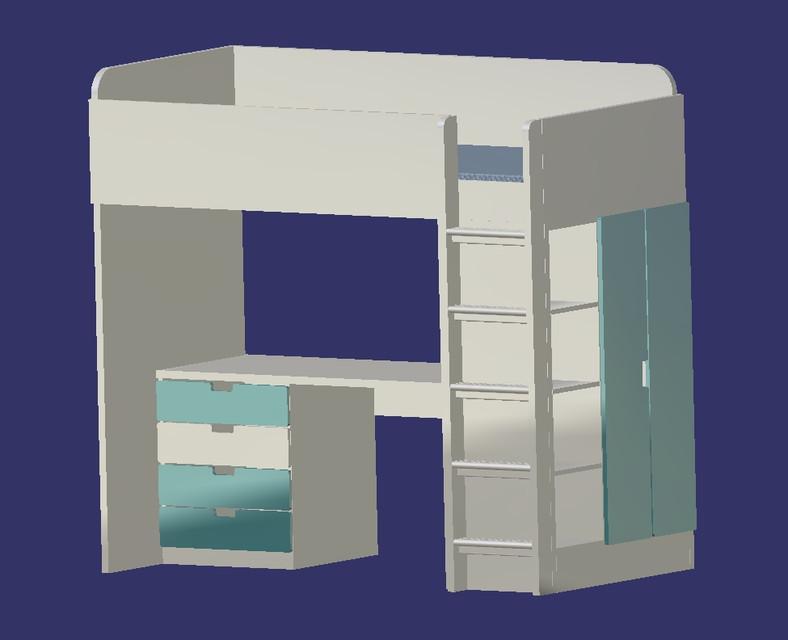 Ikea Loft Bed Instructions Stuva