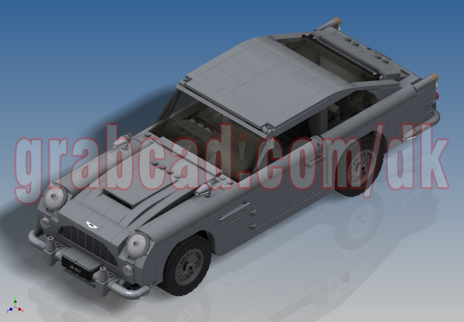Lego Creator James Bond Aston Martin Db5 10262 3d Cad