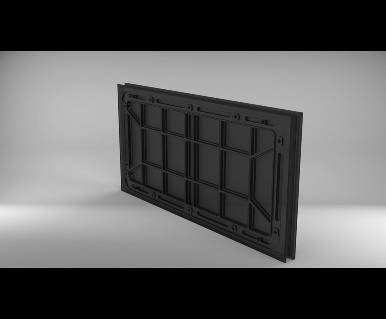 SMD 3535 Qiangli - P10 LED Display Module Panel | 3D CAD