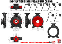 End Suction Centrifugal Pump Volute Casing
