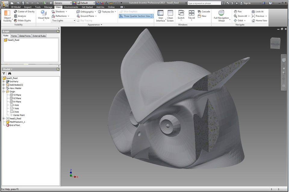 Tutorial: Convert  stl Mesh to Solid File in Autodesk Inventor | 3D