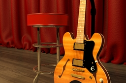 epiphone dot flametop deluxe semi hollow body guitar