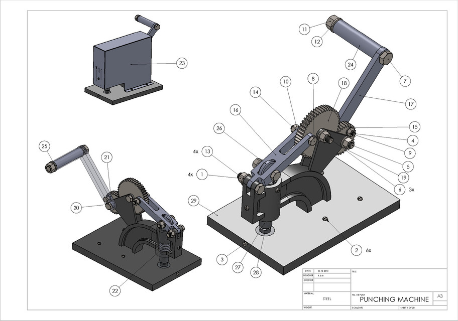 DINAR & DIRHAM COIN MINTING MACHINE - Manual Operation | 3D CAD